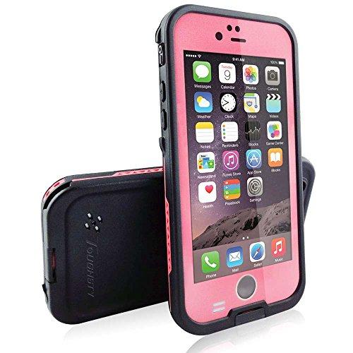 Toughsty iPhone6 防水ケース 防塵耐衝撃ケース 防水ジャケット 水深2M防水 小売用パッケージ (ピンク)