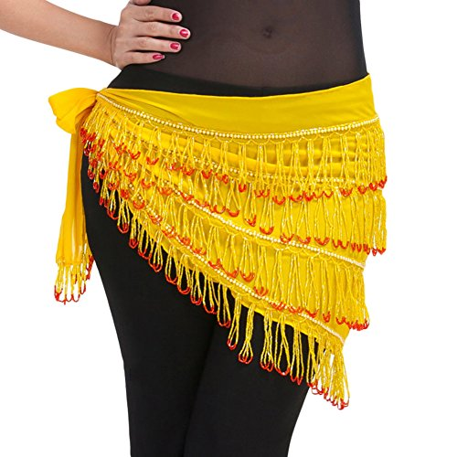 AveryDance Egyptian Hip Scarf Fringe Belly Dance Costume for Women