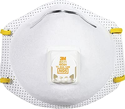 3M 8511 Particulate N95 Respirator with Valve, 10-Count, 2-PACK