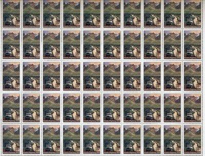 Alaska Highway 50th anniversary 50 x 29 cent US postage stamps Scot # 2635