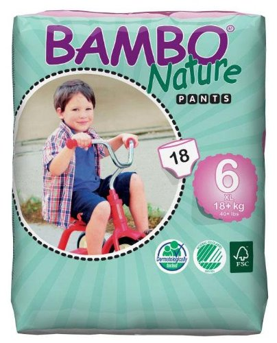 Bambo Nature Training Pants - Size 6 - 18 ct