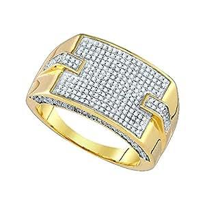 0.99CTW DIAMOND MICRO PAVE MENS RING Amazon.com