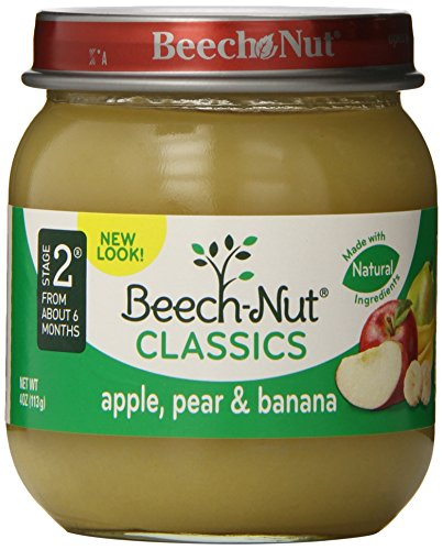 Beech-Nut Stage 2 Apple, Pear & Banana 4oz. (Pack of 10) - 1