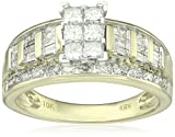 10k Two-Tone Gold Multistone Diamond Ring (1 1/2cttw, I-J Color, I2-I3 Clarity), Size 7