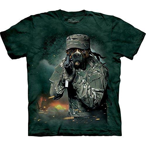 Bulldog guerra rocciosa t-shirt-grande