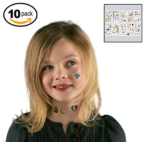 Temporary-Tattoos-Set-of-10-Sheets-Removeable-Tattoo-Art-Body-Painting-for-Kids-Women-Adults-Best-for-Party-Favors