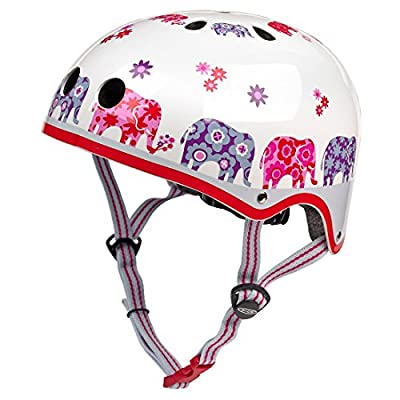 Micro Safety Helmet Elephant Print Medium Helmet for Boys and Girls Cycling Scooter Bike from Micro Scooters