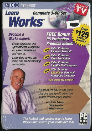 Video Professor Learn Works Complete 3-CD Set VideoProfessor