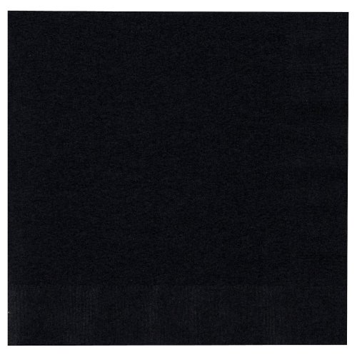 "Luncheon Napkins 12-7/8""X12-3/4"" 50/Pkg-Black Velv - 1"