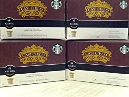 Starbucks Casi Cielo K Cups 4 Boxes of 12ct (48ct Cups Total)