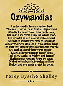 The Romantic poets: Ozymandias by Percy Bysshe Shelley