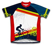 Fearless Biker Short Sleeve Cycling Jersey for Men - Size XL