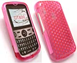 EMARTBUY ALCATEL OT-800 HEXAGON PATTERN GEL SKIN COVER/CASE PINK