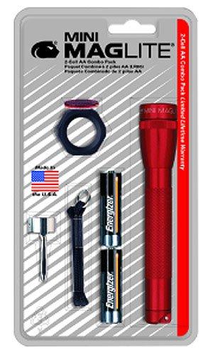 Maglite M2A03C Aa Mini Maglite Flashlight Combo Pack, Red