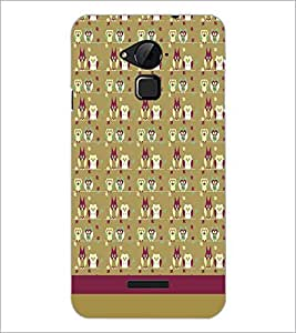 PrintDhaba Owl pattern D-1837 Back Case Cover for COOLPAD NOTE 3 LITE (Multi-Coloured)