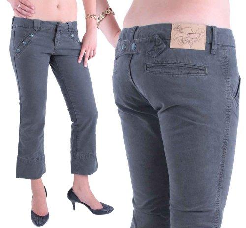 Diesel Damen 7/8 Hose Capri Jeans Petinys Grau #7 (W30)