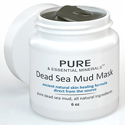 Pure & Essential Minerals Dead Sea Mud Facial Mask + FREE BONUS EBOOK! - Ancient Natural Facial Mask and Acne Treatment - Anti Aging Mask, Pore Cleanser & Pore Minimizer, Exfoliator & Natural Moisturizer for Women, Men & Teens - Restores Your Skin's Natural Radiance