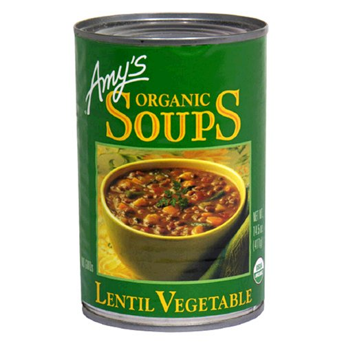 Amy's Organic Lentil Vegetable Soup, 14.5-Ounce Cans (Pack of 12)