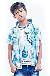Fingerchips Casual Wear Self Design Shirt