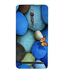 Vizagbeats Butterfly on Pebbles Back Case Cover for Asus Zenfone 2::Asus Znfone 2 ZE550ML