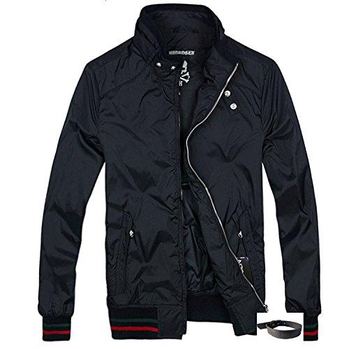 (ハイドロゲン)HYDROGEN ジャンパー メンズ ブルゾン ジャケット コート HYD-106 (オリジナルブレスレットセット)【並行輸入品】 (S, ブラック)