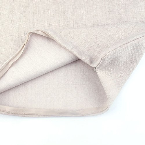 Kingla Home? Decorative Throw Pillow Covers 18 X 18 Inch Cotton Linen Square Pillow Cases Black ...