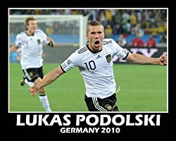 Lukas Podolski (Germany) &quot;2010 at World Cup Goal&quot; Double Matted 8&quot; x 10&quot; Photograph
