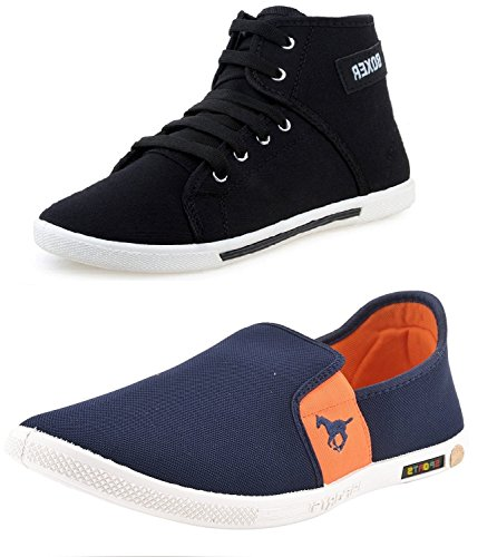 Chevit-Mens-Black-Orange-Loafers-and-Sneakers