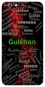 Gulshan (Garden Of Flowers) Name & Sign Printed All over customize & Personalized!! Protective back cover for your Smart Phone : Apple iPhone 4/4S