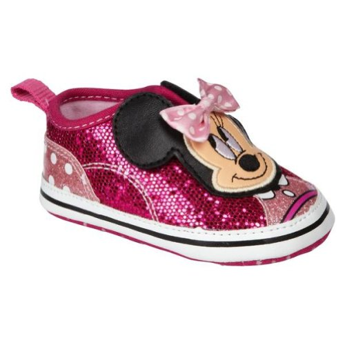 Minnie Mouse Step In Baby Girl Casual Shoes - Pink Sequins (6-9M) front-35752
