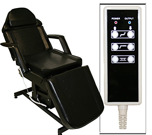 Black electric tattoo massage facial table bed chair for Cheap tattoo tables