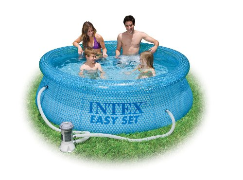 Intex 54911eg 8 foot by 30 inch clearview easy set pool for Intex pool 120 hoch