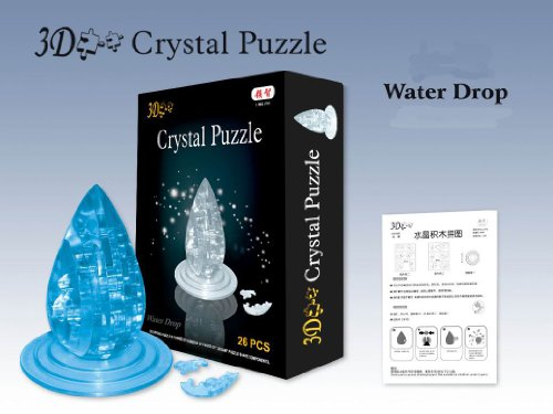 3D Jigsaw Puzzle, Cube Crystal Puzzle - Clear Water Drop, Gift Ideas