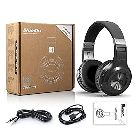 SmartOmni Bluedio Hurricane Turbine H Headphone Bluetooth 4.1 Stereo Headset Wireless Handsfree Earphone Black