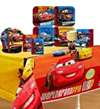 Disney Cars 2 Party Supplies Pinata Party Pack Including Plates, Cups, Napkins, Tablecover, centerpiece, Invitations and Thank you Notes - 8 Guests