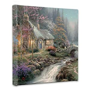 Thomas Kinkade - Twilight Cottage Canvas Wrap
