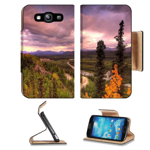 Denali National Park Sunset Forsest Samsung Galaxy S3 I9300 Flip Cover Case With Card Holder Customized Made To Order Support Ready Premium Deluxe Pu Leather 5 Inch (132Mm) X 2 11/16 Inch (68Mm) X 9/16 Inch (14Mm) Luxlady S Iii S 3 Professional Cases Acce front-596972