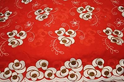 Copper Beige,voile Lace Fabric, African Design, Embroidery Poly Cotton Textile, in 11 Colors