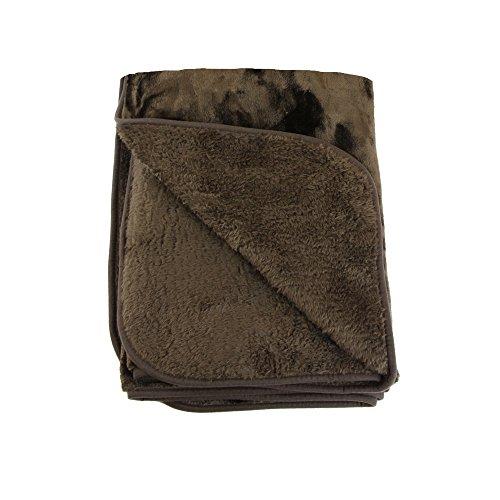 Gözze, couverture polaire/couvre-lit XXL, sensation cachemire brevetée, microfibre, 220x240 cm, chocolat, lavable, toucher sensationnel, chaleur, douceur et moelleux, confort assuré pour vos nuits bien au chaud !