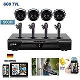 Liview® CCTV system 8CH H.264 DVR 4x HD 600TVL 1/4'' CMOS IR CUT day night waterproof outdoor BULLET camera surveillance security system NO HDD