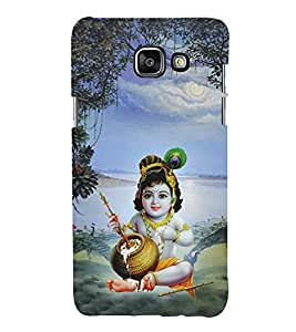 Bhagwan Krishna 3D Hard Polycarbonate Designer Back Case Cover for Samsung Galaxy A3 (2016) :: Samsung Galaxy A3 2016 Duos :: Samsung Galaxy A3 2016 A310F A310M A310Y :: Samsung Galaxy A3 A310 2016 Edition