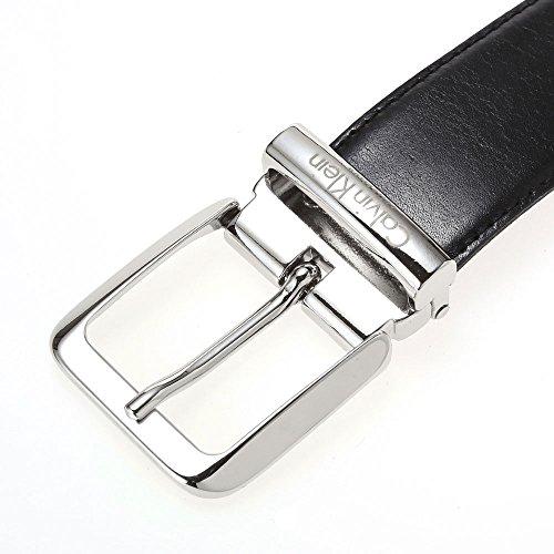 (カルバンクライン) Calvin Klein レザー メンズベルト ビジネスベルト [イタリア製] CKD-19 Black/Brown 【並行輸入品】