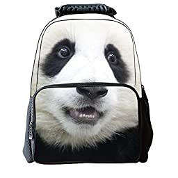 Vere Gloria Unisex School Backpack Bags 3D Animal Print Felt Fabric Hiking Daypacks (panda)