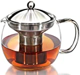 Willow & Everett Teapot Kettle with Warmer - Tea Pot and Tea Strainer Set - Tea Infuser Holds 3-4 Cups
