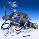 "4 IN 1 ""X-TRONIC"" MODEL #9020-XTS HOT AIR REWORK & SOLDERING IRON STATION, FUME EXTRACTOR & VACUUM PICKUP TOOL - 5 Hot Air Nozzles - 10 Asst. Solder Tips - 1 Extra Hot Air & Soldering Iron Heating Element - Pinpoint Tweezers - 1 5X MAGNIFYING LAMP!!!"