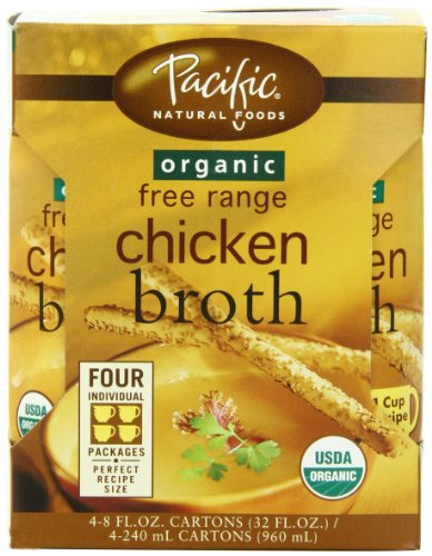 Pacific Foods Organic Free Range Chicken Broth, 8-Ounce Cartons, 24-Pack (Chicken Stock 8oz compare prices)