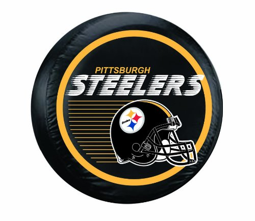 NFL Pittsburgh Steelers Large Tire Cover, Black (Steeler Tire Covers compare prices)