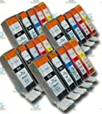 20 Chipped Compatible Canon Pixma PGI-525 & CLI-526 Ink Cartridges for Canon Pixma MG5250
