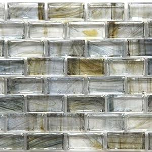 12 x 12 in sargasso sea glass blue mosaic tile kitchen