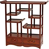 A wonderful way to display mementos and decorative objects, this imported curio cabinet showcases the elegance of Japanese design. Built of solid elm wood and hand-finished with a warm honey lacquer, this pleasing design practically glows. Th...